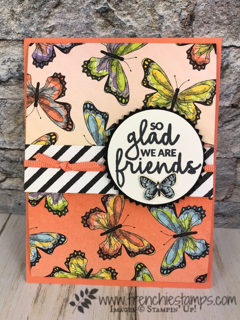 Botanical Butterfly designer paper in sale a bration. Products by Stampin'Up! available at frenchiestamps.com