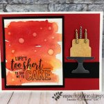Water Drop on Brusho for a cool background.Piece of Cake Bundle and Amazing Life stamp set. All product by stampin