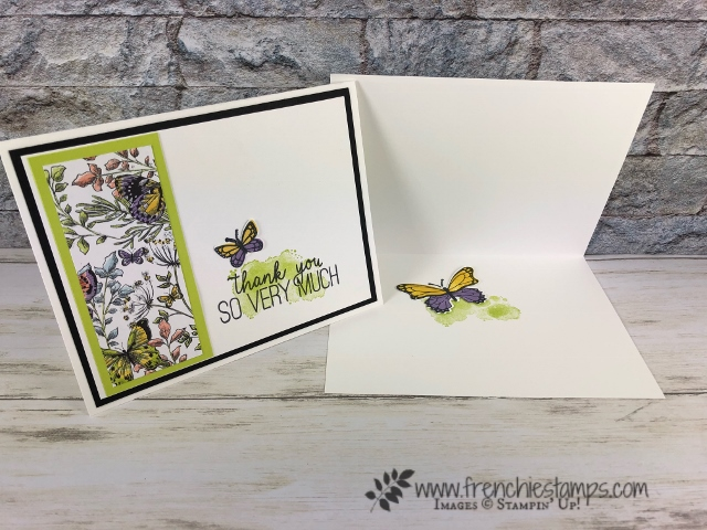 Tip with the Butterfly Gala stamp set and the Butterfly Duet punch. Botanical Butterfly Designer Series Paper part of Sale a Bration. Geared Up Garage Stamp set. All product by Stampin'Up! available at frenchiestamps.com