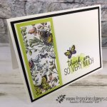 Tip with the Butterfly Gala stamp set and the Butterfly Duet punch. Botanical Butterfly Designer Series Paper part of Sale a Bration. All product by Stampin