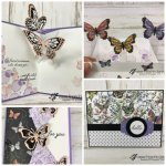 Butterfly Pop Up Card. Using the Beauty Abound Bundle and the Duet Butterfly punch with the Botanical Butterfly Designer paper. All supplies from Stampin