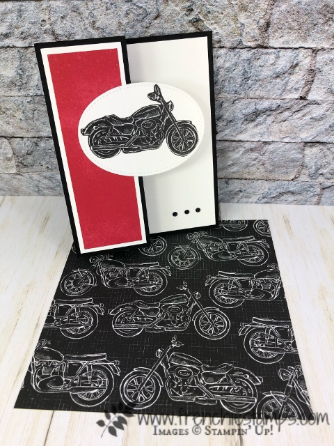 Masculine cards using the Garage Gears Thinlits, Classic Garage Designer paper, All products by Stampin'Up! available at frenchiestamps.com