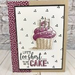 Perfect card for a celebration or birthday. Hello Cupcake stamp set and Call Me Cupecake Framelits. All product by Stampin