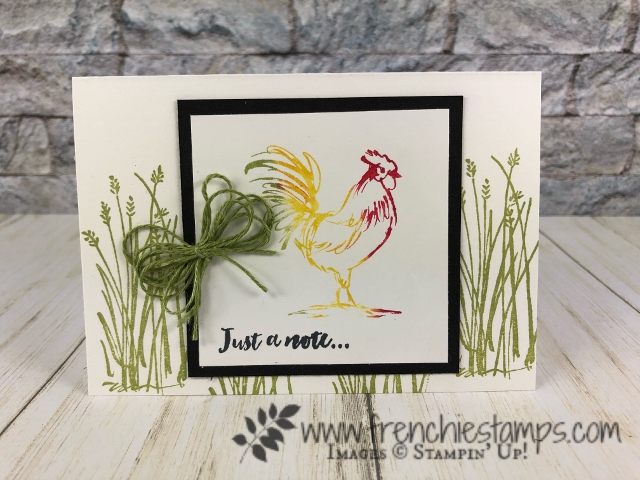 Sale a Bration Home to Roost, technique baby wipe. All product by Stampin'Up! and available at frenchiestamps.com