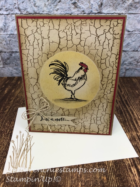 Sale a Bration Home to Roost with Crackle Paint. All product by Stampin'Up! and available at frenchiestamps.com