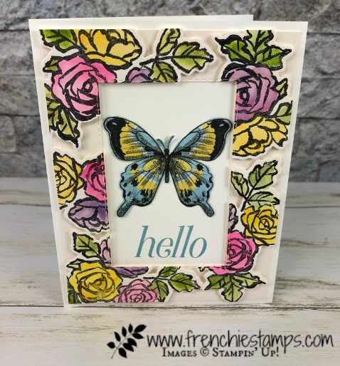 Floating Frame with the Petal and More Thinlits die. All supplies by Stampin'Up! available at frenchiestamps.com