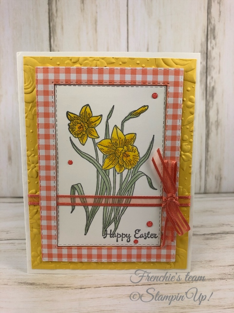 Frenchie's Team in the spotlight with the Gala Designer Paper. Frenchie's Team in the spotlight with the Gala Designer Paper. Stamp Set You're Inspiring, All product by Stampin'Up available at frenchiestamps.com