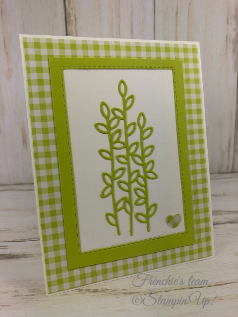 Frenchie's Team in the spotlight with the Gala Designer Paper. Frenchie's Team in the spotlight with the Gala Designer Paper. All product by Stampin'Up available at frenchiestamps.com