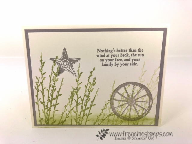 Simple card using Country Road stamp set. All product by Stampin'Up! available at frenchiestamps.com