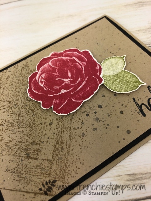 Simple card with the Healing Hugs and Gallery Grunge. All product from Stampin'Up! available at frenchiestamps.com