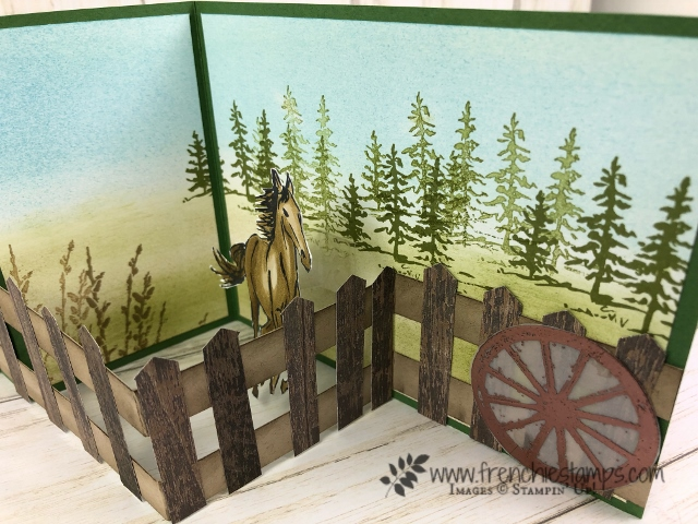Let It Ride fence card. PDF available e with qualified orders at frenchiestamps.com. All products by Stampin'Up!