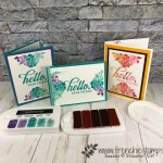 How to ink and stamp with Spectrum pad. Stamp set Life is Grand and Floral Phrases. All product by Stampin