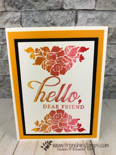 How to ink and stamp with Spectrum pad. Stamp set Life is Grand and Floral Phrases. All product by Stampin'Up! available at frenchiestamps.com