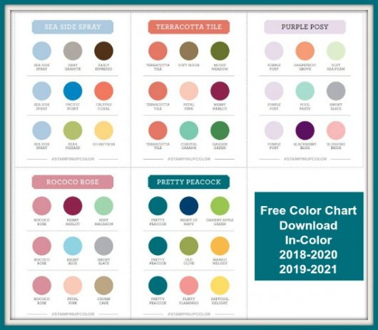 Free Download Stampin'Up! In-Color 2019-2020 Color Coach