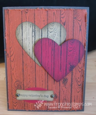Hardwood Stamp set to make your own Wood Texture paper. Stamp set by Stampin'Up! available at frenchiestamps.com