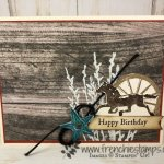Last chance to get the Wood Textures Designer Paper. Stamp set is Country Road. All product by Stampin
