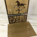 Learn how to make a water drop background. Stamp set is Country Road. All supplies by Stampin