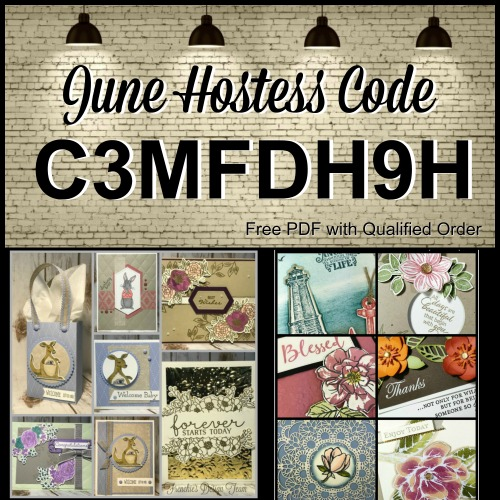 Frenchie's Customer appreciation for the month of June 2019. Stamp set of choice are Animal Outing, Fable Friends, Good Morning Magnolia, Bloom and Grow, To A Wild Rose, Sailing Home, Floral Essence. All product by Stampin'Up! available at frenchiestamps.com