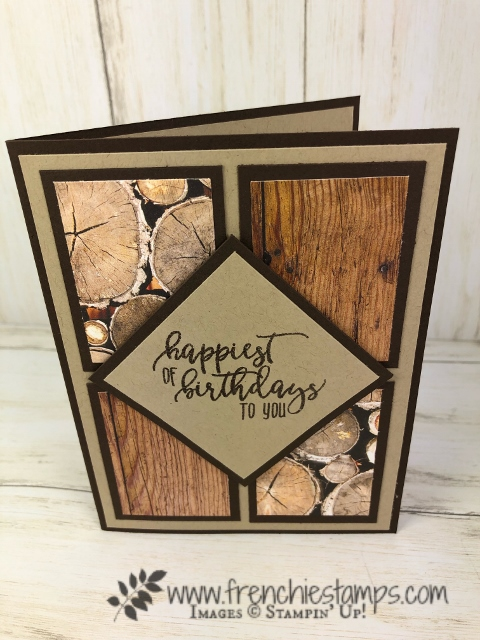 Last chance to get the Wood Textures Designer Paper. Stamp set is Picture Perfect Birthday. All product by Stampin'Up! available at Frenchiestamps.com