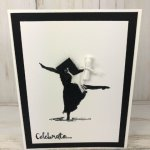 Gradation card with Beautiful You Silhouette. All product by Stampin