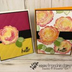 How to stamp the rose from Healing Hugs in two tone. All supplies by Stampin