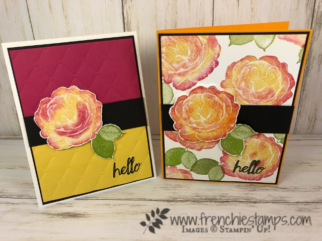 How to stamp the rose from Healing Hugs in two tone. All supplies by Stampin'Up! available at frenchiestamps.com
