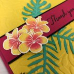 How to two tone color flower. Stamp set is Tropical Chick. All product by Stampin