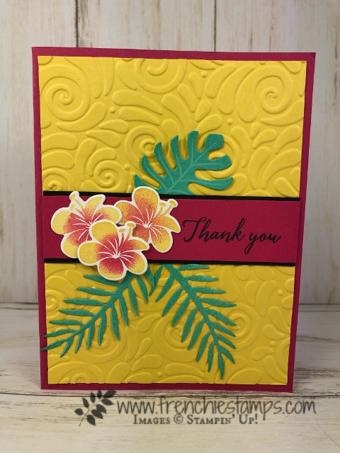 How to two tone color flower. Stamp set is Tropical Chick. All product by Stampin'Up! available at frenchiestamps.com