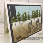 Technique Motion stamping. Stamp set Waterfront and Enjoy Life. All product by Stampin