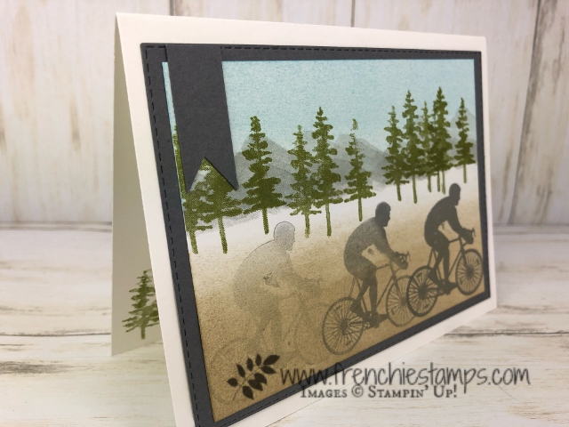 Technique Motion stamping. Stamp set Waterfront and Enjoy Life. All product by Stampin'Up! available at frenchiestamps.com #motionstamping #Stampin'Up #frenchiestamps #enjoylife