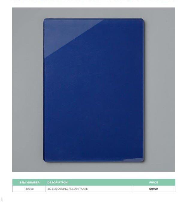 New 3-D Embossing Folder Plate