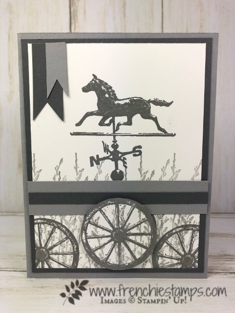 Simple masculine card with Country Road and 2 colors. All supplies are by Stampin'Up! available at frenchiestamps.com