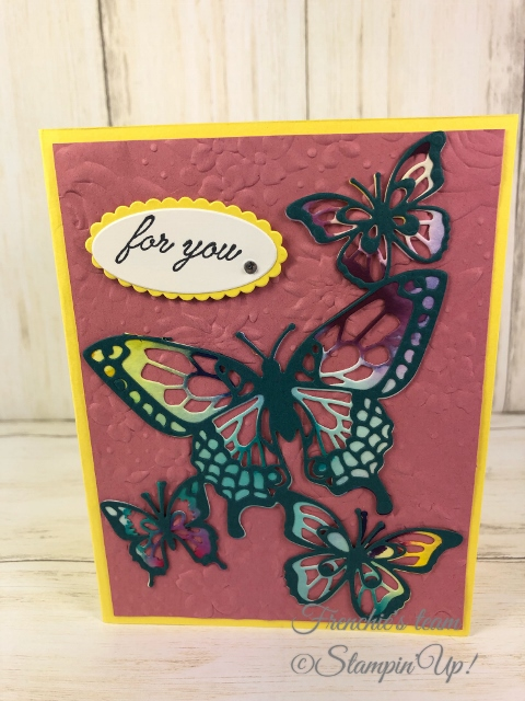 Cards with the Stampin'Up! In-Color 2019-2021 Made by Frenchiestamps.com Rococo Rose
