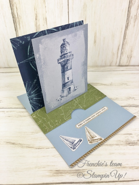 Cards with the Stampin'Up! In-Color 2019-2021 Made by Frenchiestamps.com Seaside Spray