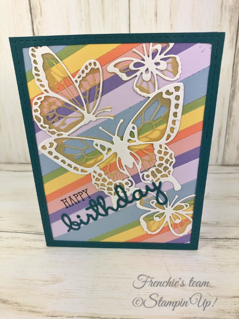 Cards with the Stampin'Up! In-Color 2019-2021 Made by Frenchiestamps.com Pretty Peacock