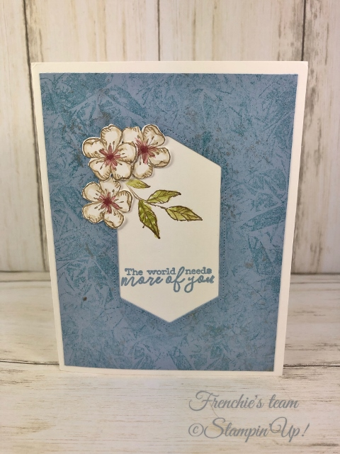 Cards with the Stampin'Up! In-Color 2019-2021  Made by Frenchiestamps.com  Seaside Spry