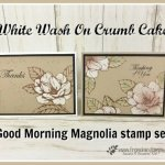 How to do a white wash on Crumb Cake cardstock and add a splash of color. Stamp set is Good morning magnolia. All product by Stampin