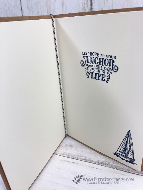 Magnolia Lane Memories and More Large Card and envelop. How to add a insert also using the Memories More Come Sail Away. All products by Stampin'Up! available at frenchiestamps.com