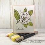 Simple way to color Good Morning Magnolia with blends. All products by Stampin