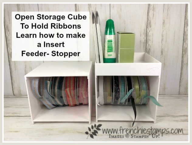 Insert To Hold Ribbons In the Open Storage Cube