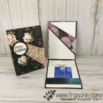 Recessed card with a gift card holder. Using the Perennial Essence or Magnolia Lane designer paper. All product by Stampin
