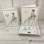 How to altered the wedding dress in Wonderful Moments stamp set. From mid wast to long. All supplies by Stampin