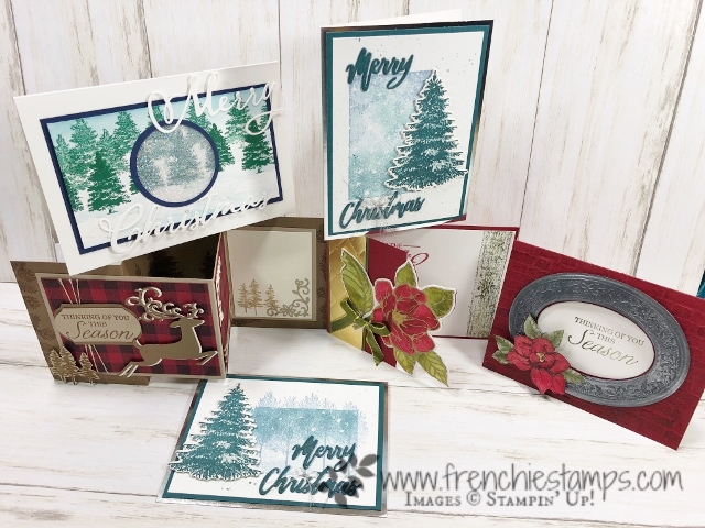 Christmas in July with Frenchie. DIY Your Christmas cards. All products by Stampin'Up! available at frenchiestamps.com #stampinup #stamping #frenchiestamps #cardmaking #papercrafts #handmadecards #stampingtechniquehowtovideo