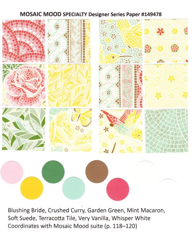 Mosaic Mood Designer Paper   chart by Stampin'Up! available at frenchiestamps.com