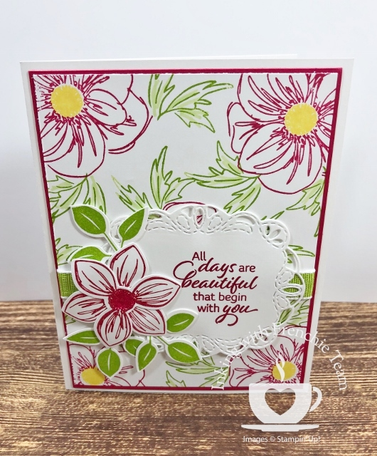Swaps with Frenchie' Team. Stamp set  Floral Essence Bundle. All supplies by Stampin'Up! available at frenchiestamps.com