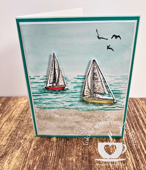 Swaps with Frenchie' Team. Stamp set Sailing Home. All supplies by Stampin'Up! available at frenchiestamps.com