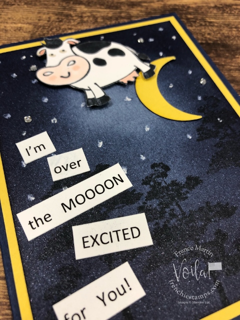 Night Sky. Over the Moon stamp set. How to spong a night sky. All product by Stampin'Up! available at Frenchiestamps.com