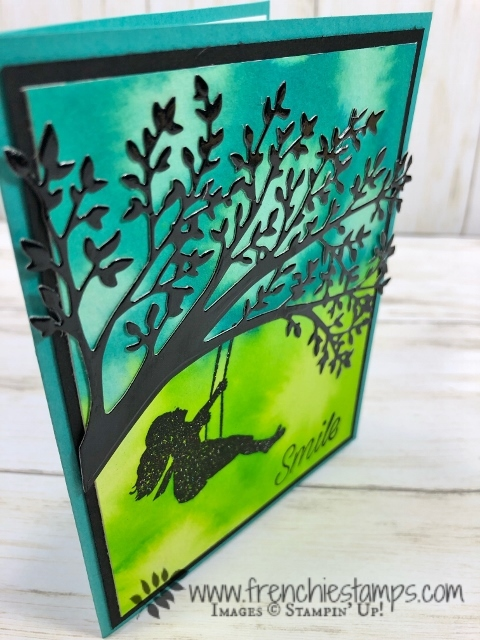 Silhouette Scenes, Sweet Silhouette die with the Pigment Crystal. So bright and simple. All product by Stampin'Up!, Detail at frenchiestamps.com. #stampinup #stamping #frenchiestamps #cardmaking