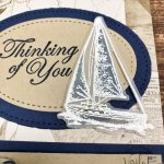 Using the Sailing Home stamp set. How to stamp on vellum and add color. All supplies by Stampin