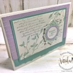 Very Versailles in pastel colors. Simple card. Free download. All supplies by Stampin
